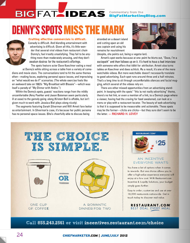 magazine page with ad