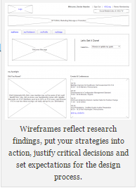 wireframe sample with caption