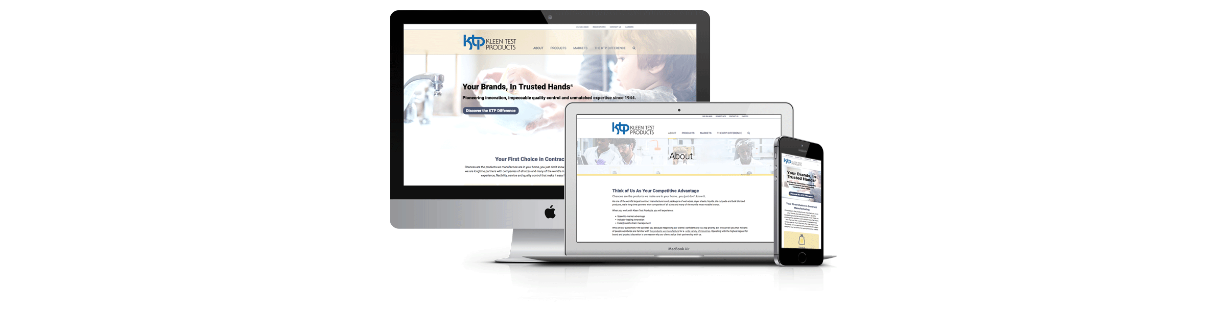 Website Redesign for Kleen Test Products